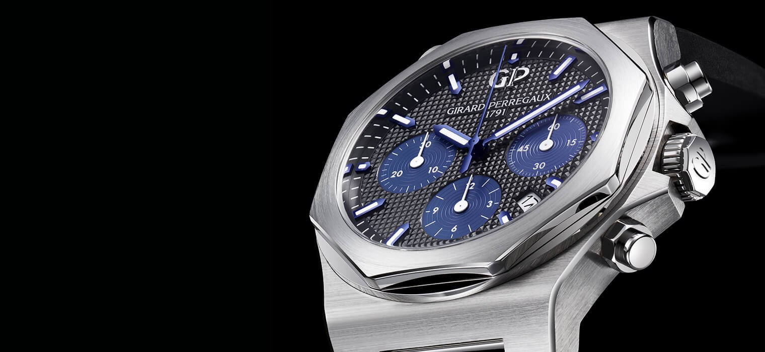 Fashion meets comfort with the newly designed girard perregaux laureato chronograph luxuvere for Girard perregaux